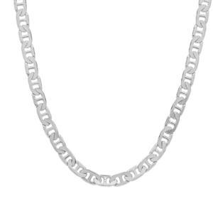 """18"""" Sterling Silver Tempo Diamond Cut Battuta Mariner Chain 2.54g"""