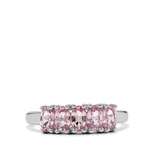 1.50ct Sakaraha Pink Sapphire Sterling Silver Ring