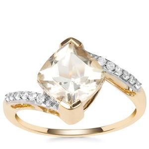 Serenite Ring with White Zircon in 9K Gold 2.22cts