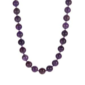 Zambian Amethyst Necklace in Rose Tone Sterling Silver 263.70cts