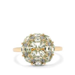 Alexandrite & Diamond 9K Gold Ring ATGW 1.25cts