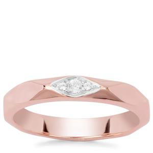 Ratanakiri Zircon Ring in Rose Gold Plated Sterling Silver 0.12ct