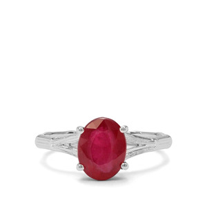 2.81ct Malagasy Ruby Sterling Silver Ring (F)