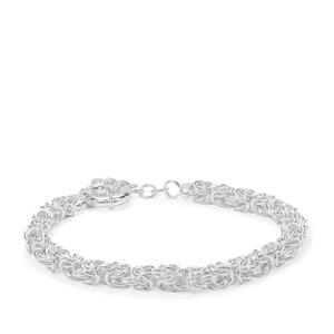 """7"""" Sterling Silver Altro Byzantine Bracelet 10.69g"""