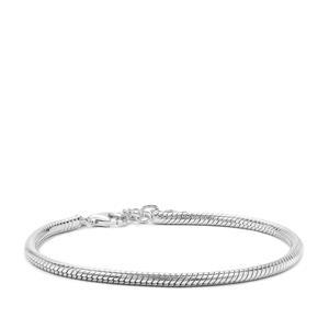 "7"" Sterling Silver Altro Snake Bracelet 11.35g"