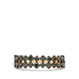 1ct Green Diamond 10K Gold Ring