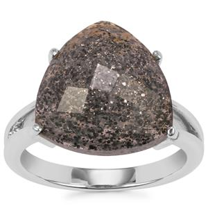 Midnight Astraeolite Ring in Sterling Silver 6.92cts