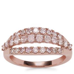 Natural Pink Diamond Ring in 10K Rose Gold 1ct