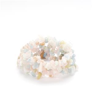 239.50ct Multi-Colour Beryl Nugget Stretchable Bracelet