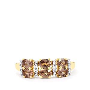 Bekily Colour Change Garnet & White Zircon 10K Gold Ring ATGW 1.31cts