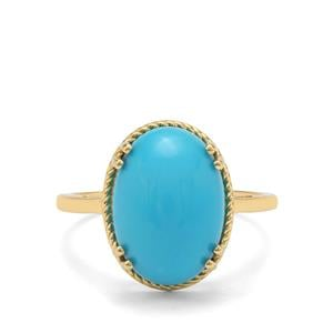 5.71ct Sleeping Beauty Turquoise 9K Gold Ring