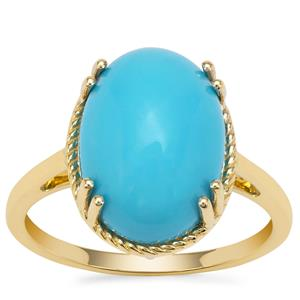 Sleeping Beauty Turquoise Ring in 9K Gold 5.71cts