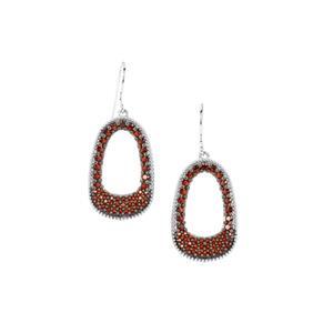 Anthill Garnet Earrings in Sterling Silver 3.12cts