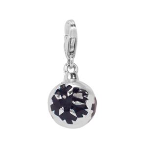 Bauble with Snowflakes Milano Charms in Sterling Silver