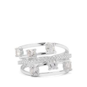 1.08ct White Zircon Sterling Silver Ring