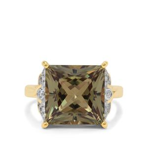 Csarite® Ring with Diamond in 18K Gold 10.05cts