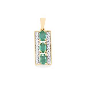 1.27ct Zambian Emerald 910 Gold Pendant