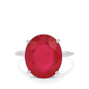 9.35ct Malagasy Ruby 9K White Gold Ring (F)