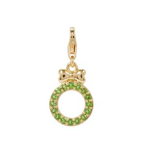 Chrome Diopside Wreath with Bow Milano Charms in Gold Plated Sterling Silver 0.27cts