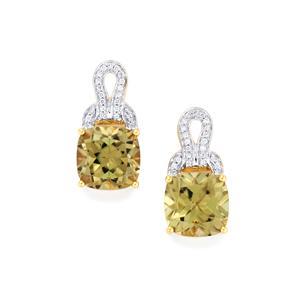 Csarite® & Diamond 18K Gold Lorique Earrings MTGW 10.10cts