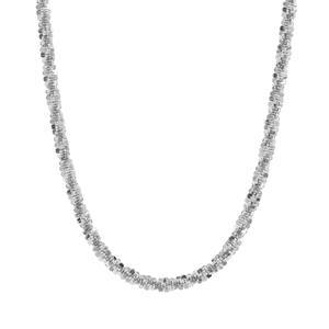 "18"" Sterling Silver Couture Criss Cross Chain 3.39g"
