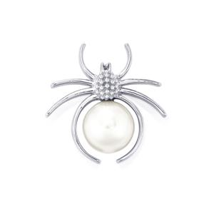 South Sea Cultured Pearl Pendant in Sterling Silver (12mm x 11mm)
