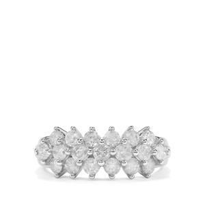 1.45ct Diamond 9K White Gold Tomas Rae Ring