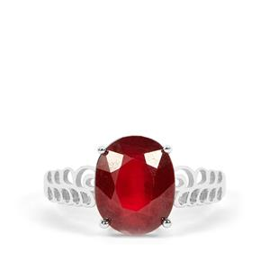 4.85ct Thai Ruby Sterling Silver Ring (F)