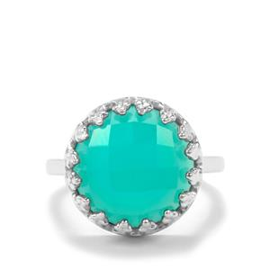 Aqua Chalcedony Ring in Sterling Silver 8.06cts
