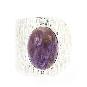 6.24ct Charoite Sterling Silver Aryonna Ring