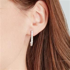 Diamond Earrings in Sterling Silver 1.05ct