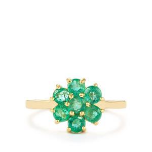 1.18ct Zambian Emerald 9K Gold Ring
