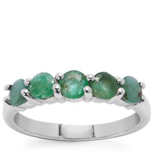 Sakota Emerald Ring  in Sterling Silver 2.10cts