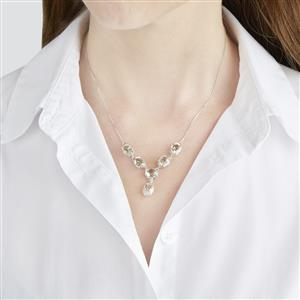 6.58ct Serenite Sterling Silver Necklace