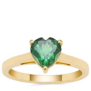 'Campbell's Moyo' Tsavorite Garnet Ring in 18K Gold 1.25cts