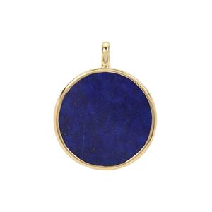 Sar-i-Sang Lapis Lazuli Pendant in Gold Plated Sterling Silver 18.50cts