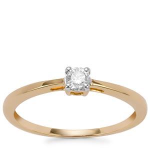 Diamond Ring in 18K Gold 0.21ct