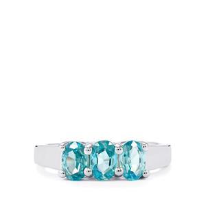 2.12ct Ratanakiri Blue Zircon Sterling Silver Ring