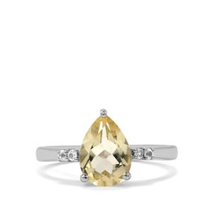 Serenite Ring with White Topaz in Sterling Silver 1.70cts