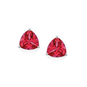 Mystic Pink Topaz Earrings in Sterling Silver 2.83cts