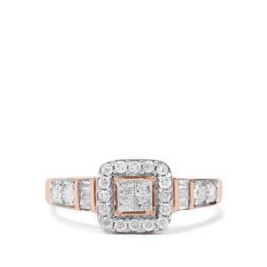 1/2ct Diamond 9K Rose Gold Ring