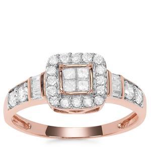 Diamond Ring in 9K Rose Gold 0.49ct