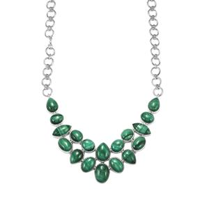 146.54ct Malachite Sterling Silver Aryonna Necklace