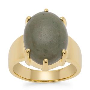 Nephrite Jade Ring in Gold Plated Sterling Silver 9.90cts