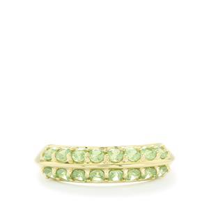 1.22ct Ambanja Demantoid Garnet 10K Gold Ring