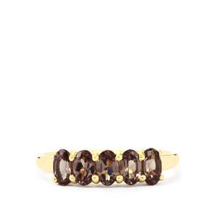 1.48ct Bekily Colour Change Garnet 9K Gold Ring