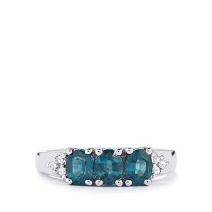 Orissa Kyanite & White Topaz Sterling Silver Ring ATGW 1.60cts