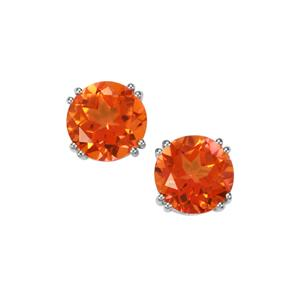 Padparadscha Colour Quartz Earrings in Sterling Silver 7.18cts