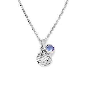 0.46ct Tanzanite Sterling Silver Pendant Necklace