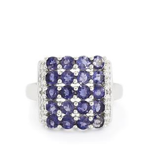Bengal Iolite & Diamond Sterling Silver Ring ATGW 2.05cts